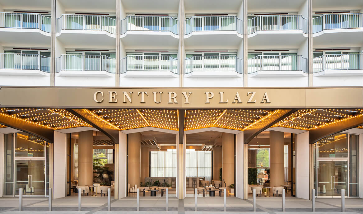 The façade of Fairmont Century Plaza.