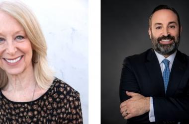Headshots of Marcia Hurwitz and Paul Sposare.