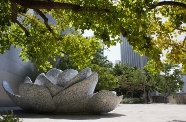 The Lotus Statue found in Blue Ribbon Garden