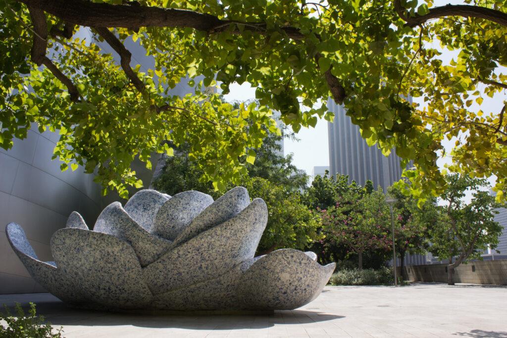 Lotus statue