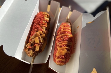 Corndogs with extra toppings